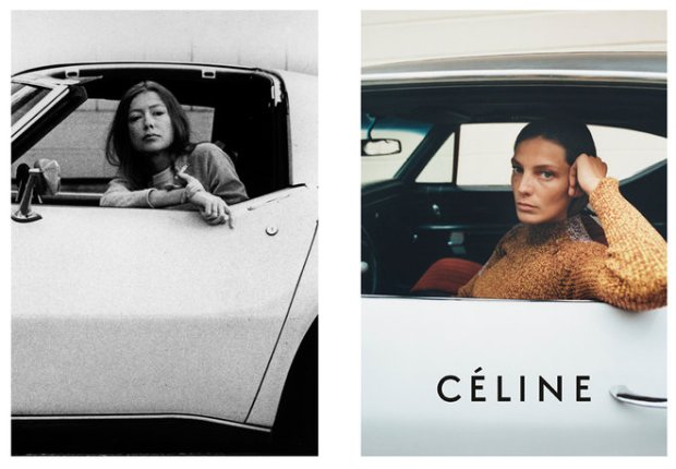 Image via: http://www.vogue.comPhoto: (from left) Julian Wasser/The LIFE Images Collecion/Getty Images; Tyrone Lebon, Courtesy of Céline